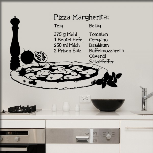 Wandtattoo Pizza Margherita