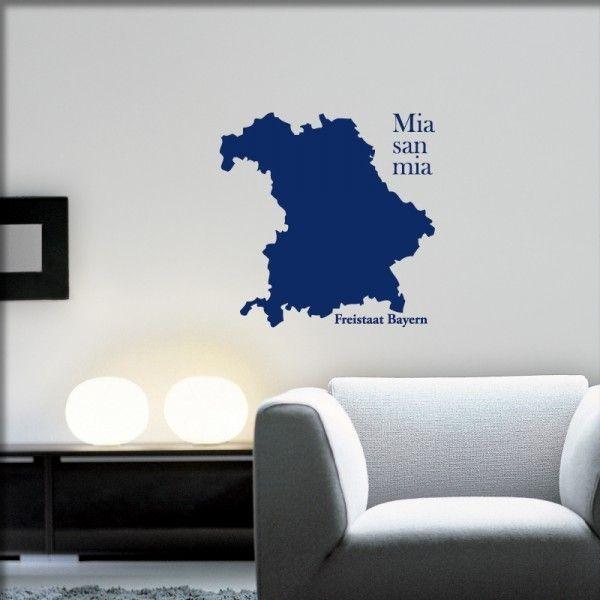 Wandtattoo Freistaat Bayern
