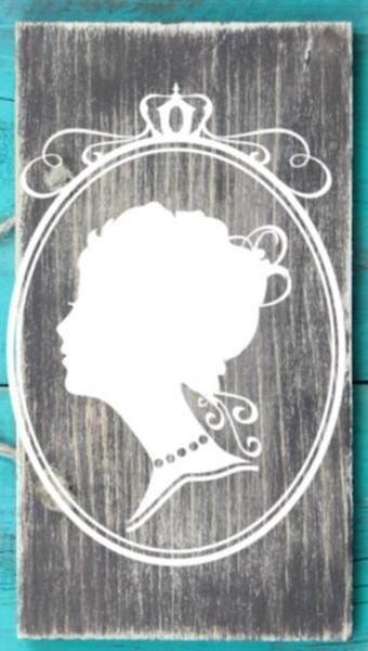 Wandtattoo Damenkopf