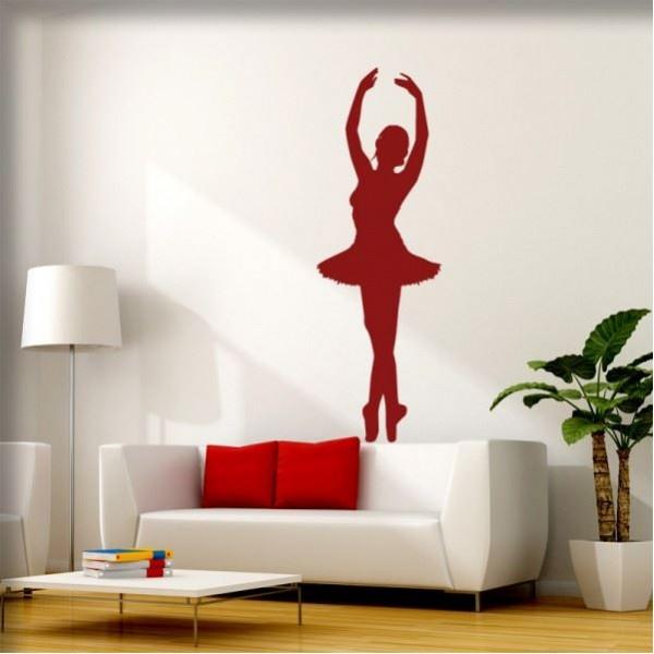 Wandtattoo Ballerina