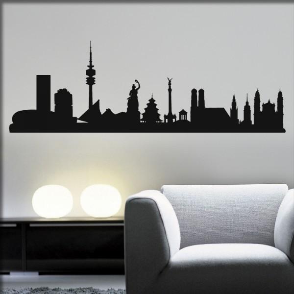 Wandtattoo München Skyline
