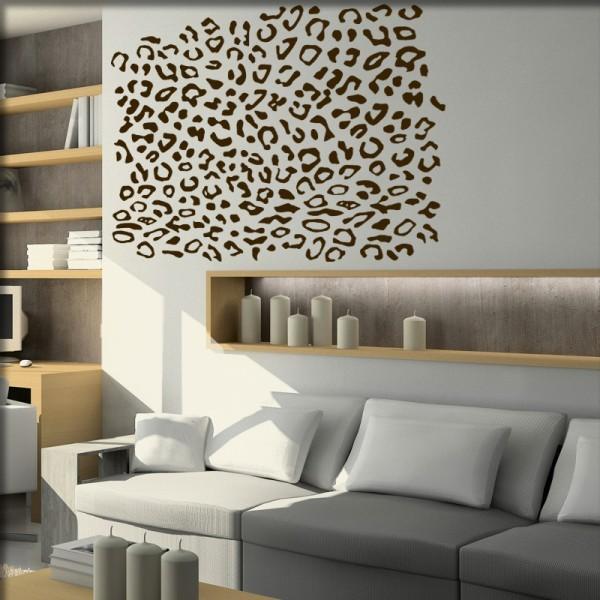 Wandtattoo Leoparden Style