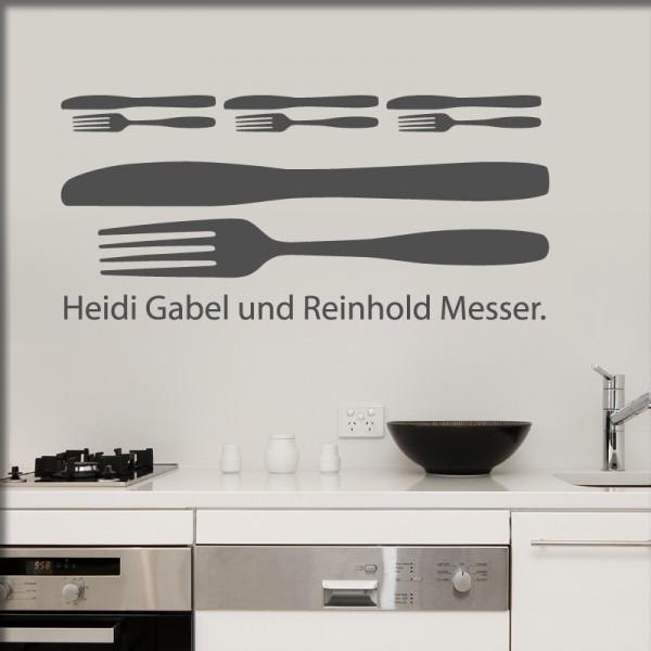 Wandtattoo Heidi Gabel