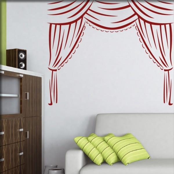 Wandtattoo Vorhang klassisch
