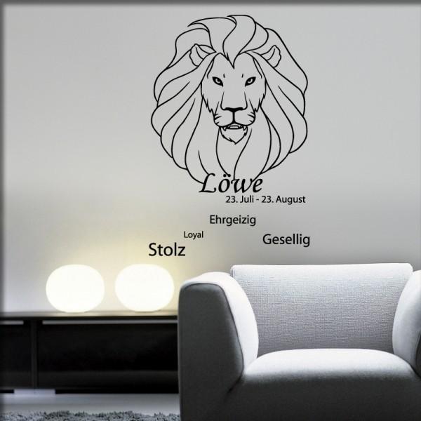 Wandtattoo Sternzeichen Löwe
