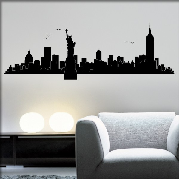 Wandtattoo New York Skylines