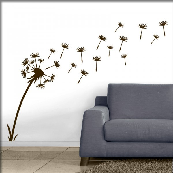pusteblume wandmotiv wandaufkleber wandtattoo www. Black Bedroom Furniture Sets. Home Design Ideas
