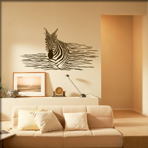 Wandtattoo Zebra Style