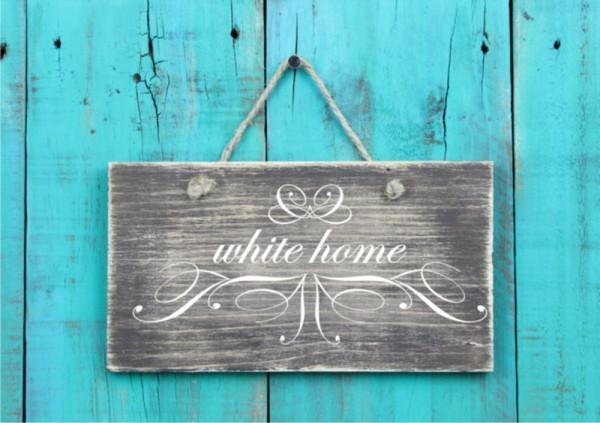 Wandtattoo White Home