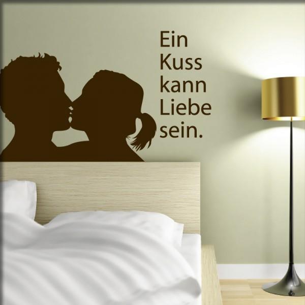 Wandtattoo Ein Kuss
