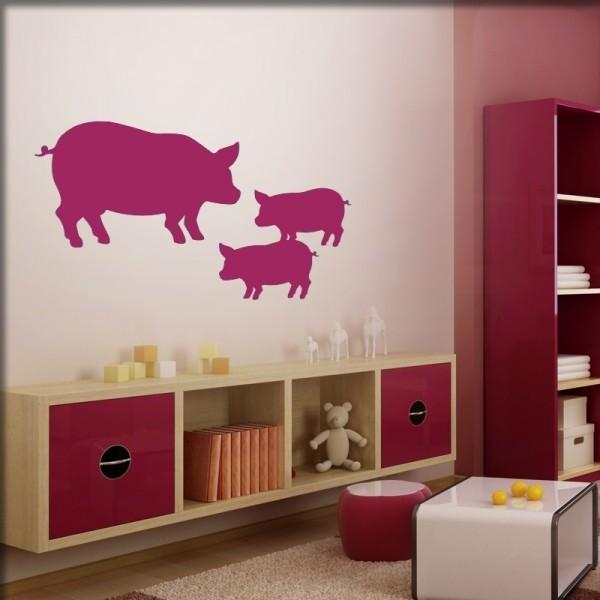 Wandtattoo Schweine