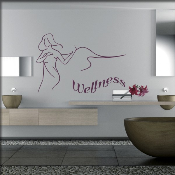 Wandtattoo Wellnessbereich