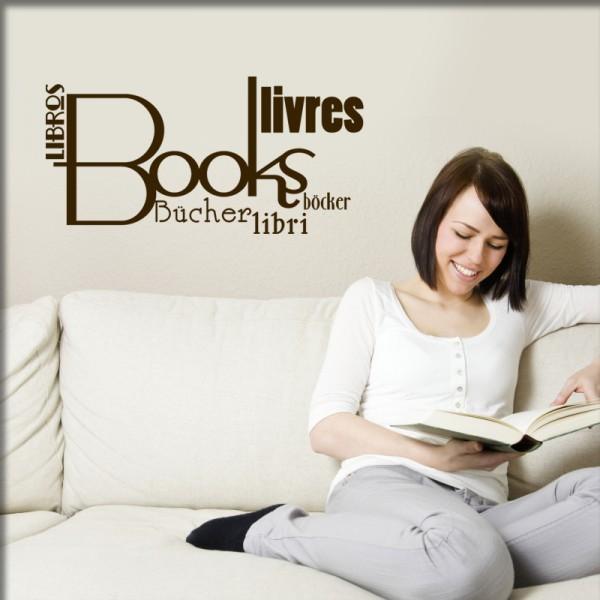 Wandtattoo Books - Bücher