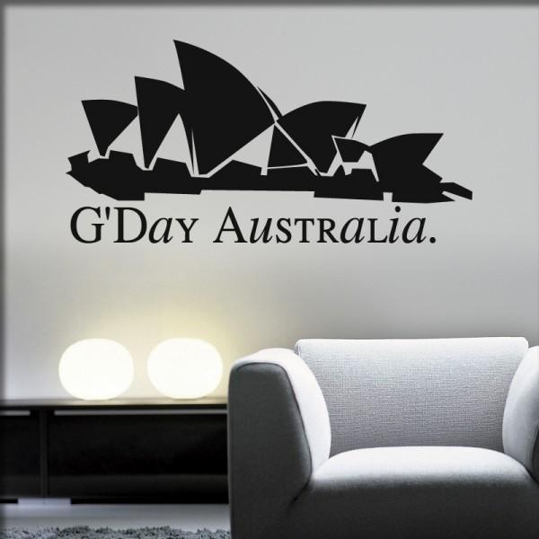 Wandtattoo Sydney Silhouette