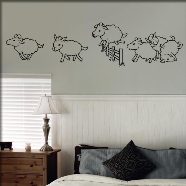 Wandtattoo Schafe