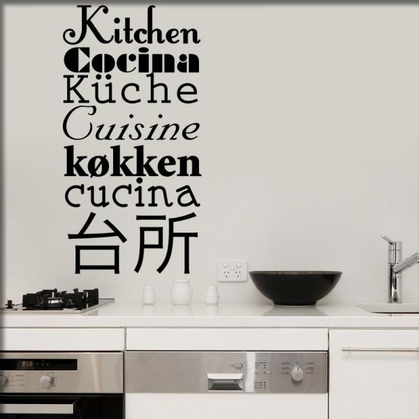 Wandtattoo Küchentexte