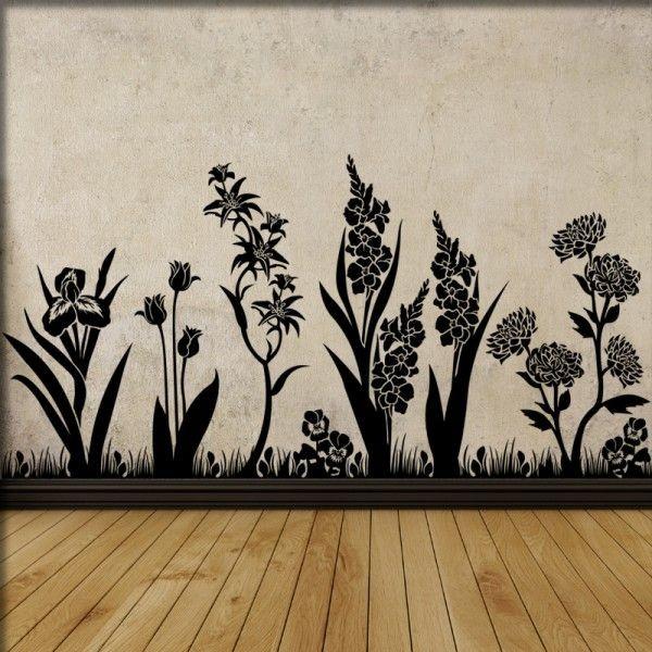 Wandtattoo Gartenwiese