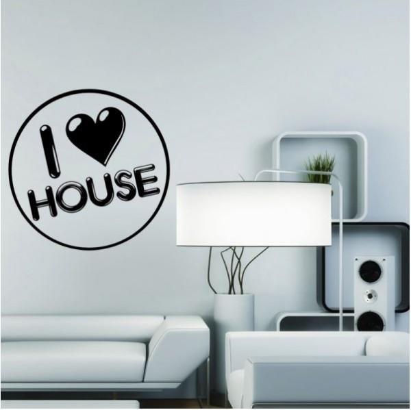 Wandtattoo House