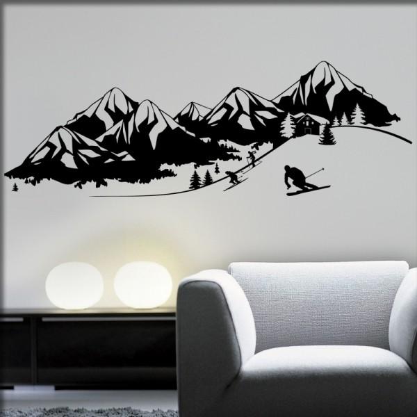 Wandtattoo Die Alpen
