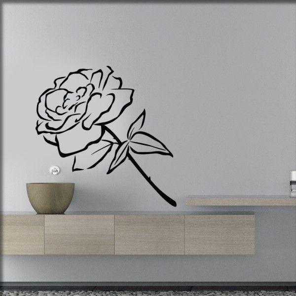 Wandtattoo Feine Rose