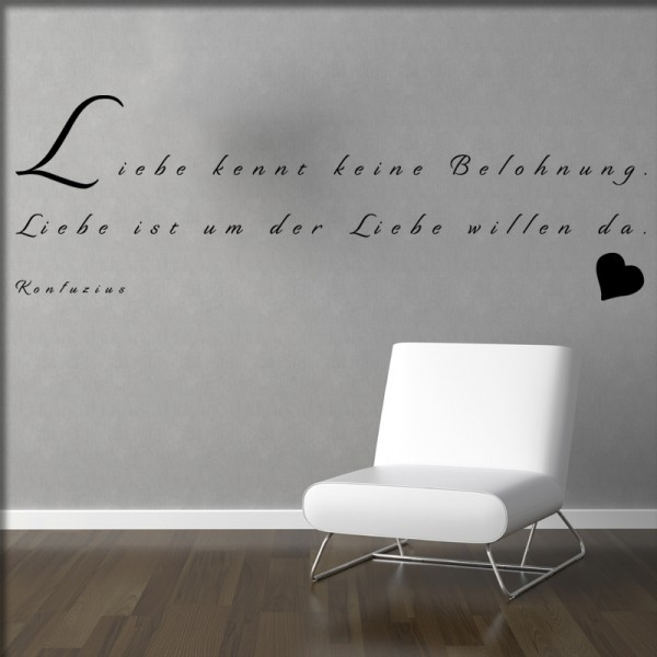Wandtattoo Liebe kennt keine Belohnung