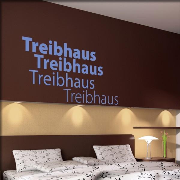 Wandtattoo Treibhaus