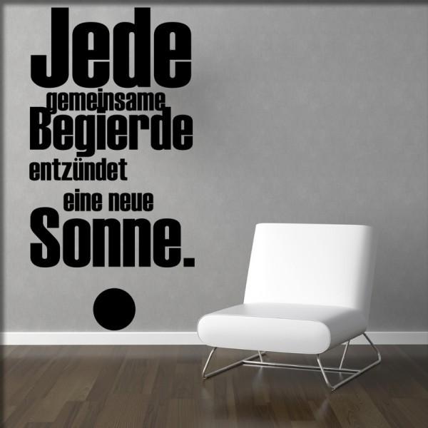 Wandtatoo Jede Begierde