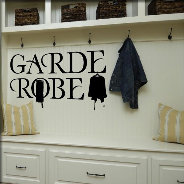 Wandtattoo Garderobe
