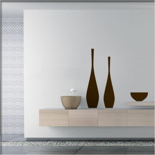 Wandtattoo Vasen und Schale