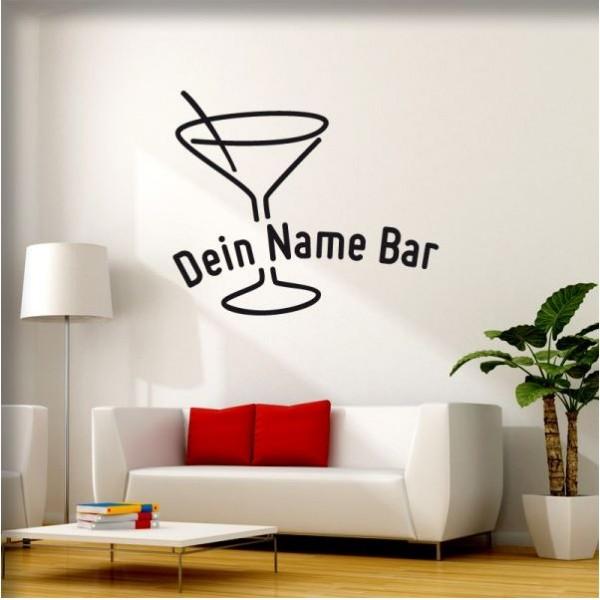 Wandtattoo Deine Bar