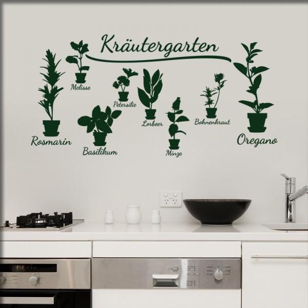 Wandtattoo Küchenkräuter