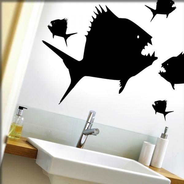 Wandtattoo Piranhas
