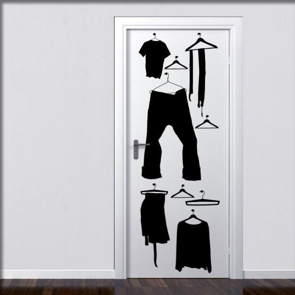 Wandtattoo Kleiderschrank