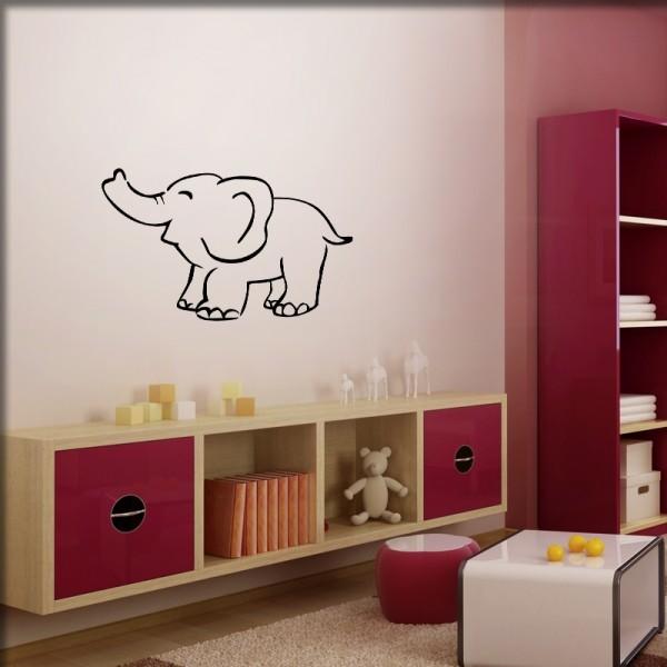 Wandtattoo Elefantenbaby