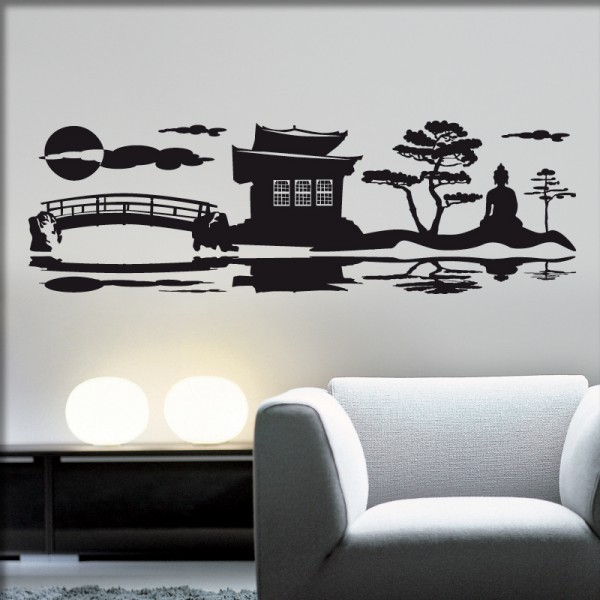 Wandtattoo Japanischer Garten