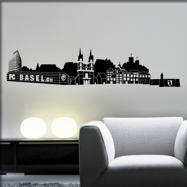 Wandtattoo Skyline Basel Wwwwandartistench