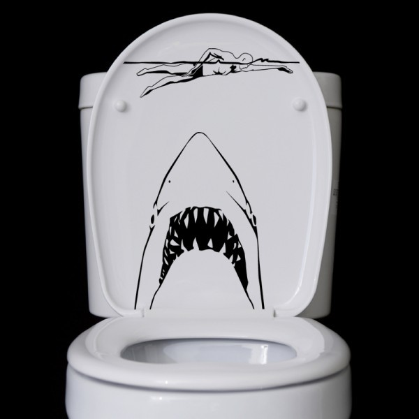 Wandtattoo Hai Angriff