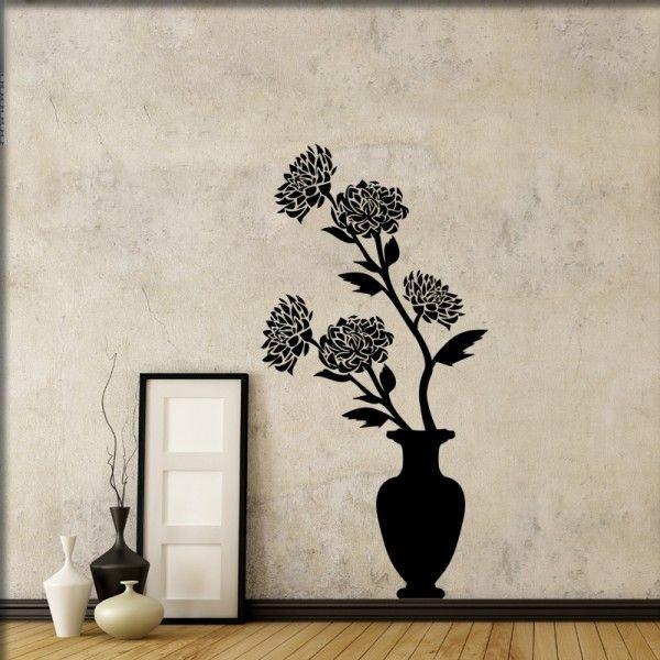 Wandtattoo Blumen in Vase