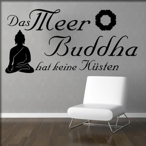 Wandtattoo Das Meer Buddha