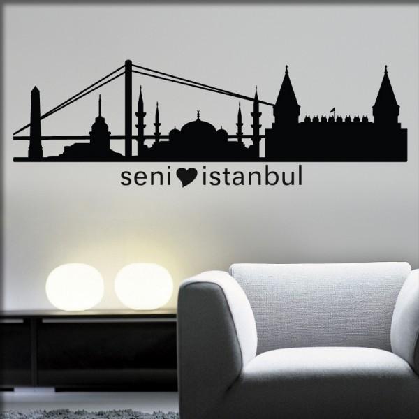 Wandtattoo Istanbul Skyline