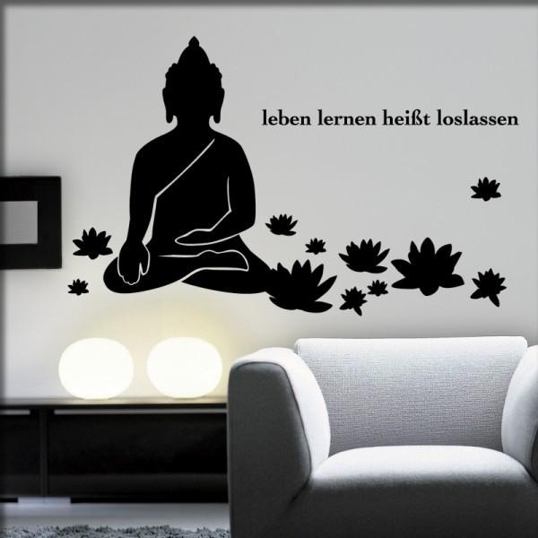 Wandtattoo Lotusbuddha