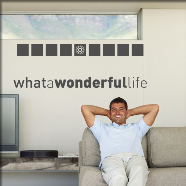 Wandtattoo wonderful life