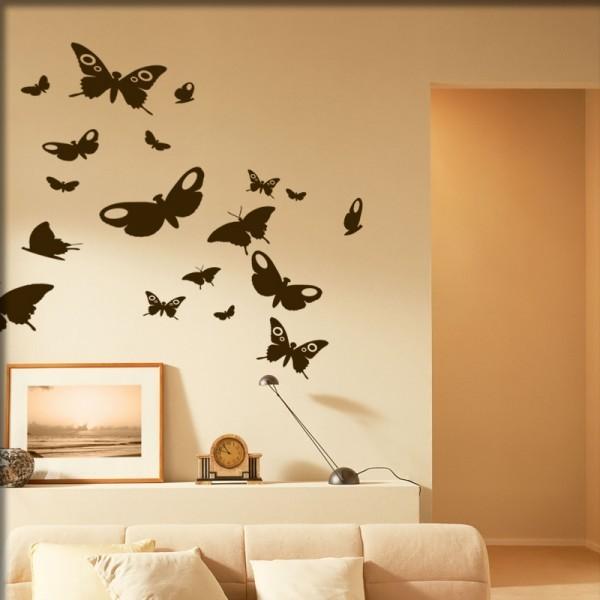 Wandtattoo 17 Schmetterlinge