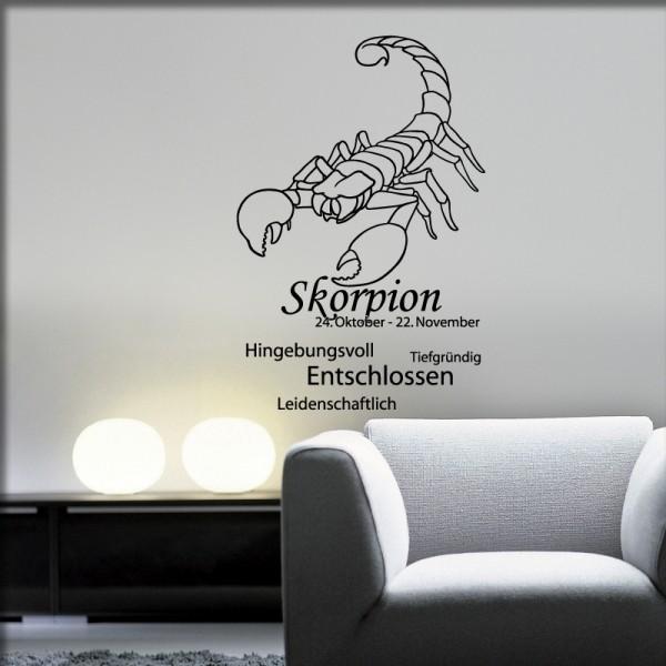 Wandtattoo Sternzeichen Skorpion