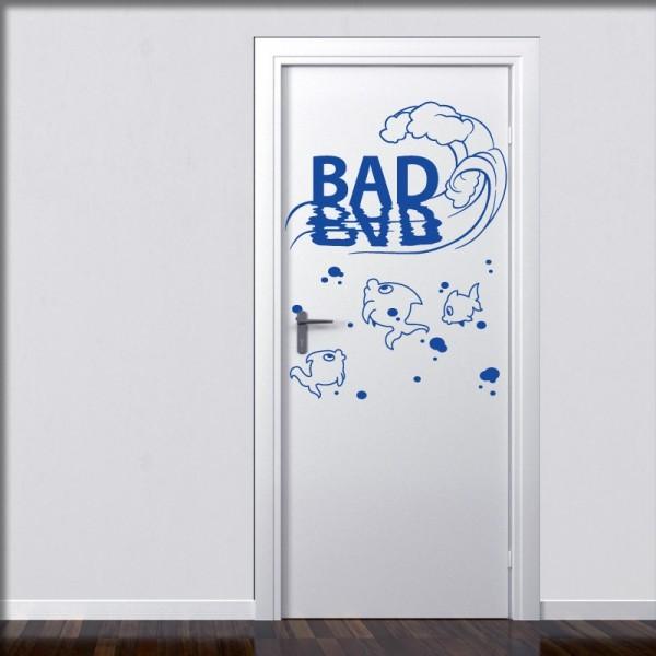 Wandtattoo Türtattoo Toilette Bad Gäste WC Badezimmer | www ...