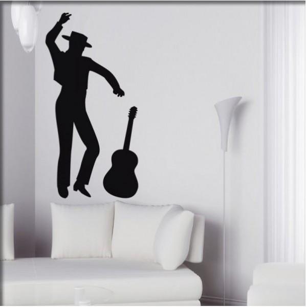 Wandtattoo Flamenco Tänzer
