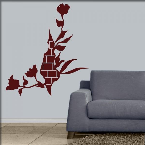 Wandtattoo Mauerblume
