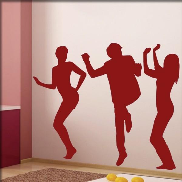Wandtattoo Tanzfreunde