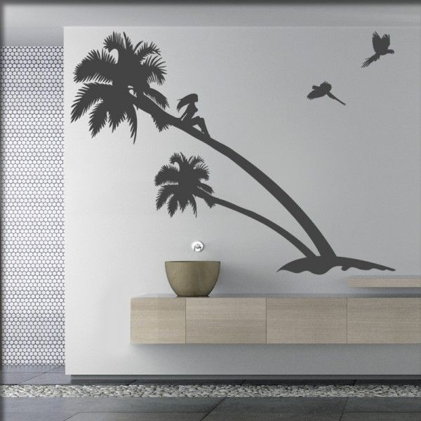 Wandtattoo Karibik Palmen