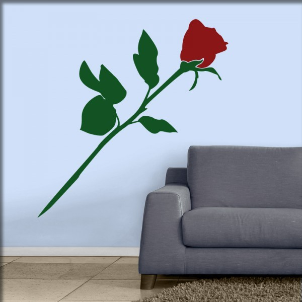 Wandtattoo Zarte Rose